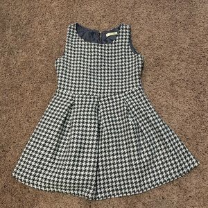 Park Girl Tweed Gray and White Patterned Dress